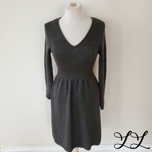 Calvin Klein Dress Sweater Wool Gray Long Sleeve